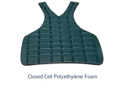 thermoformed foam vest